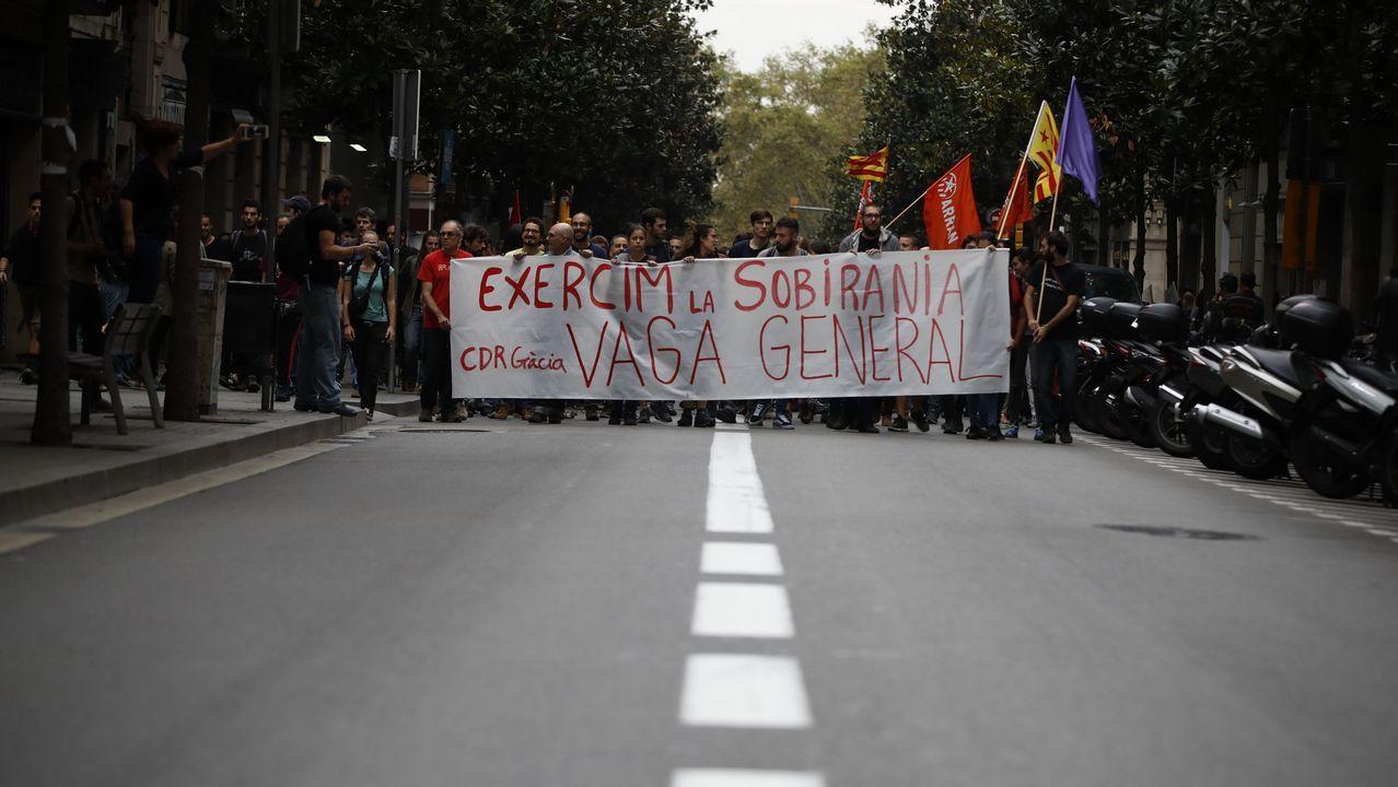Huelga en Cataluña.