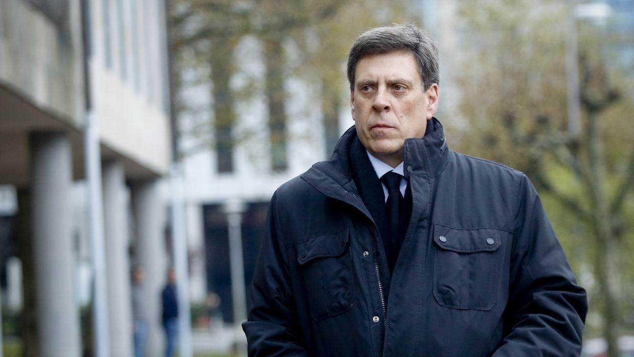 Llegada de Juan Carlos Quer a la quinta jornada del juicio
