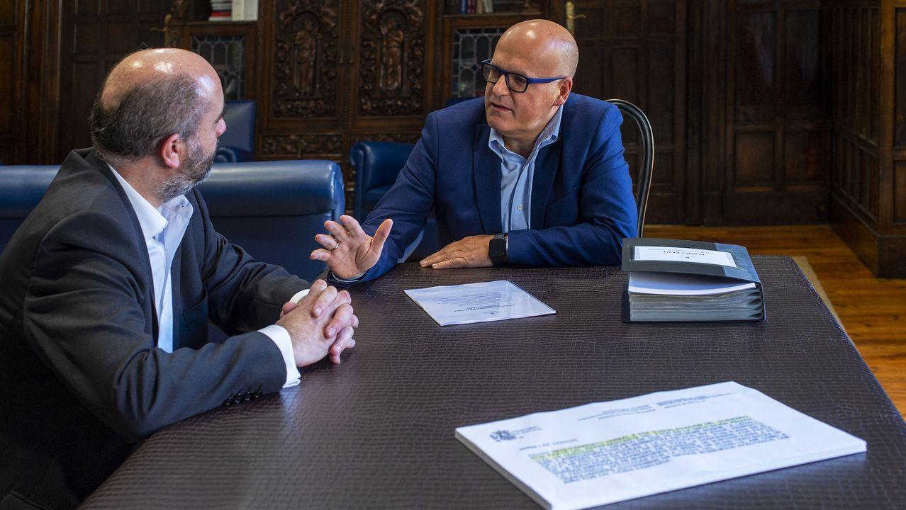 David Martínez, con José Manuel Baltar