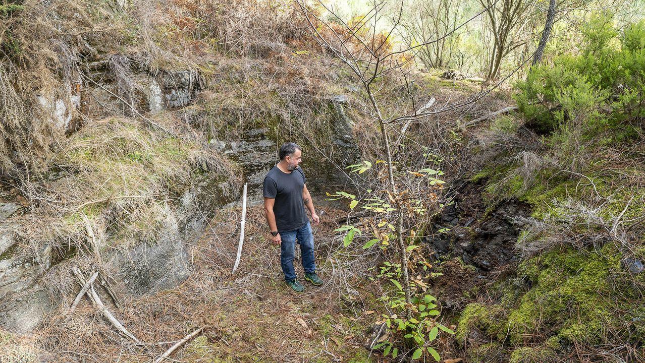 Una visita en imágenes al Pozo Morto, un depósito de agua de la época romana.El túnel minero figura entre los principales puntos de interés del geoparque Montañas do Courel