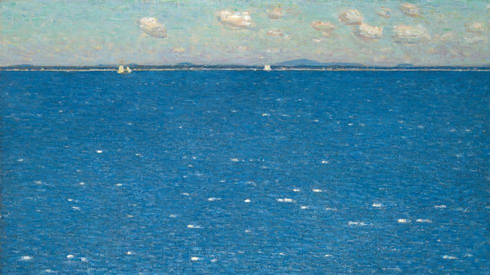 Por un Mundo Sostenible, sin plásticos en nuestros mares.«Viento del oeste en la isla de Shoals» (Childe Hassam, 1904). Galería de Arte de la Universidad de Yale, New Haven, Connecticut