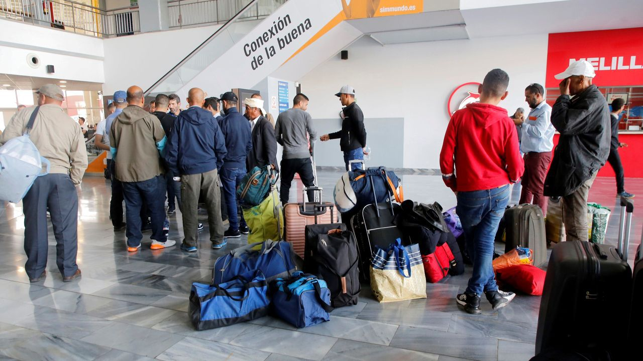 La estación marítima de Melilla poco antes del cierre de fronteras