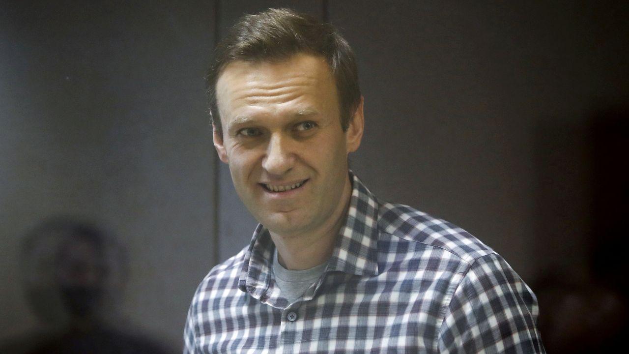 Alexéi Navalni, durante su juicio en febrero pasado