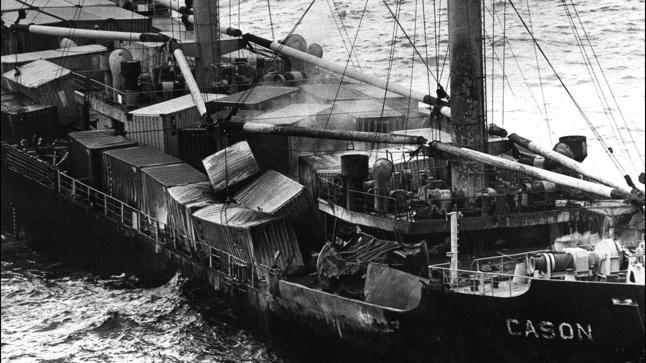 Detalle de la carga que portaba el navío, supuestamente tóxica