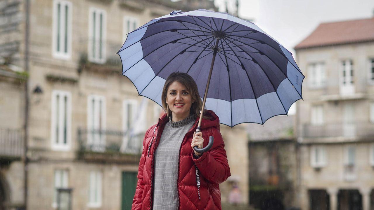 Noelia Rodríguez, este lunes en Ribadavia