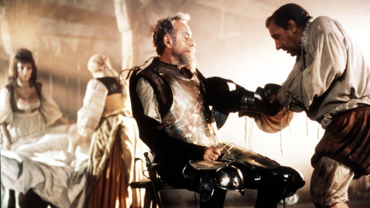 Fernando Rey, como Don Quijote, y Alfredo Landa en el papel de Sancho Panza