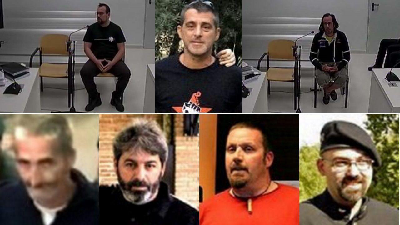 De izquierda a derecha. Fila superior, Ferrán Jolís, Eduard Garzón y Jori Ros. En la fila inferior. Álexis Codina, Xavier Duch, Xabier Buigas y Germinal Tomás Aubeso