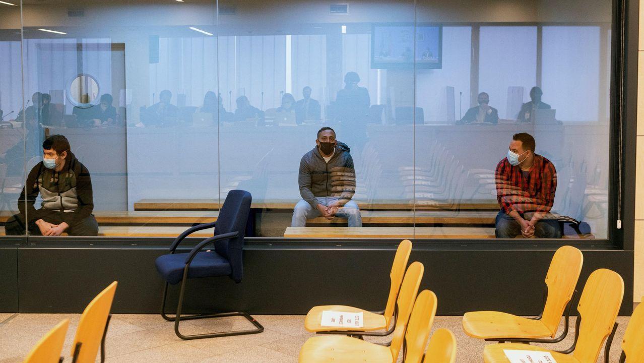 Los tres acusados en el juicio por los atentados en Cataluña el 17 A