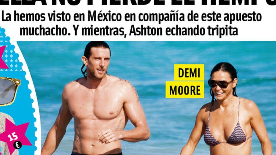 Demi Moore y Piero