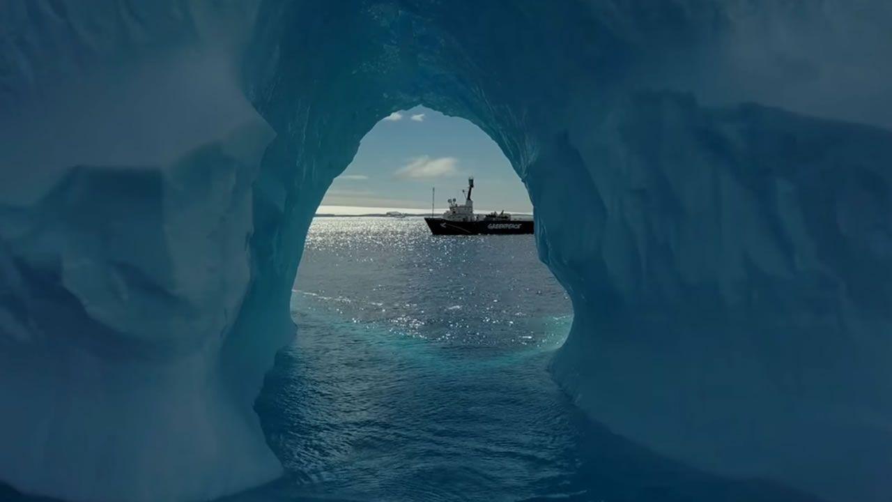 Bardem en la Antártida