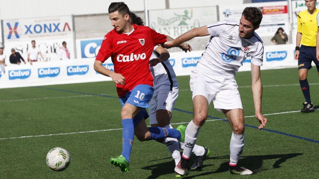 Las imágenes del partido Arousa contra Céltiga.Imagen tomada durante el Vetusta - Sporting B de la 16/17