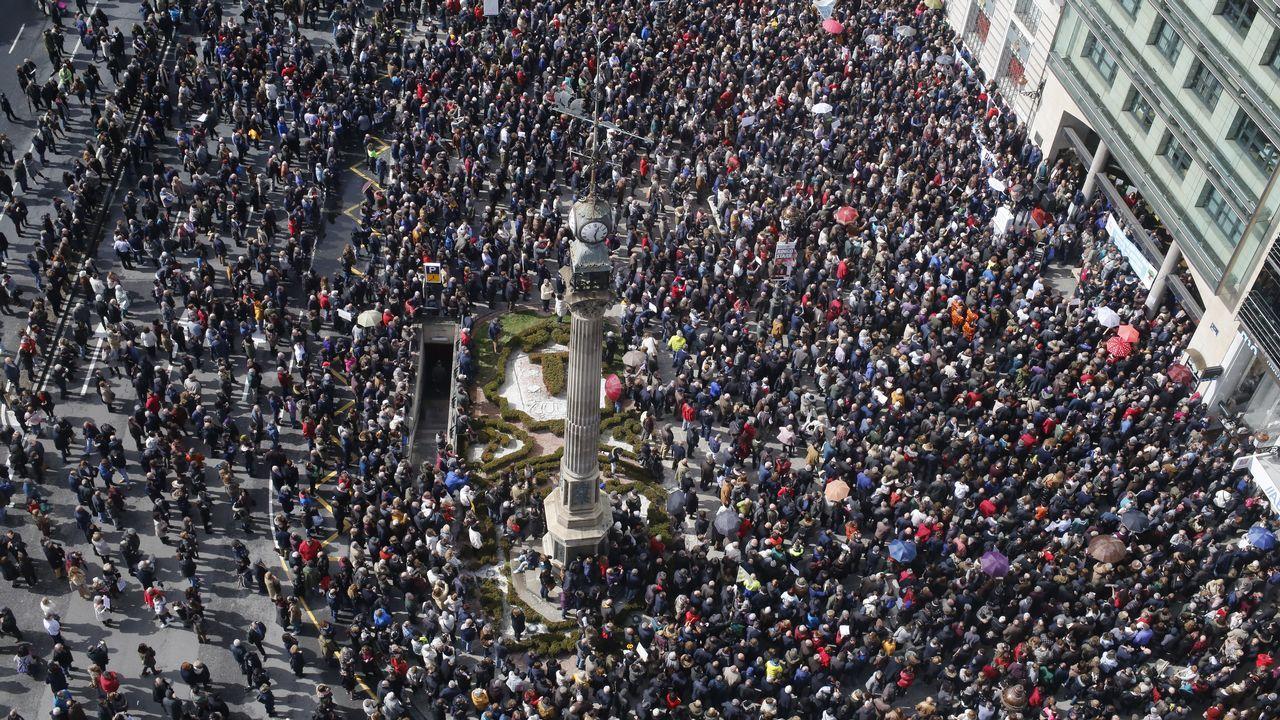 Los jubilados gallegos luchan por sus pensiones.Pablo Carreño celebra su victoria frente a Kevin Anderson en Miami