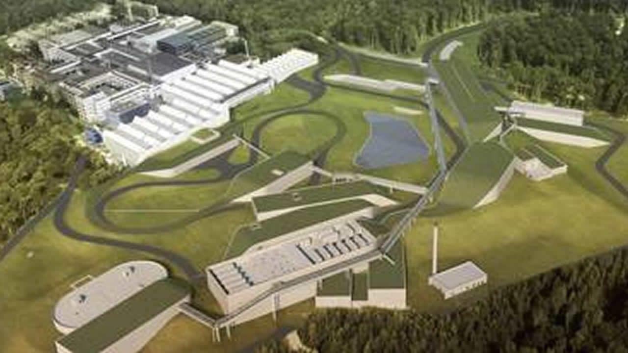 Recreación del Facility for Antiproton and Ion Research, en Darmstadt