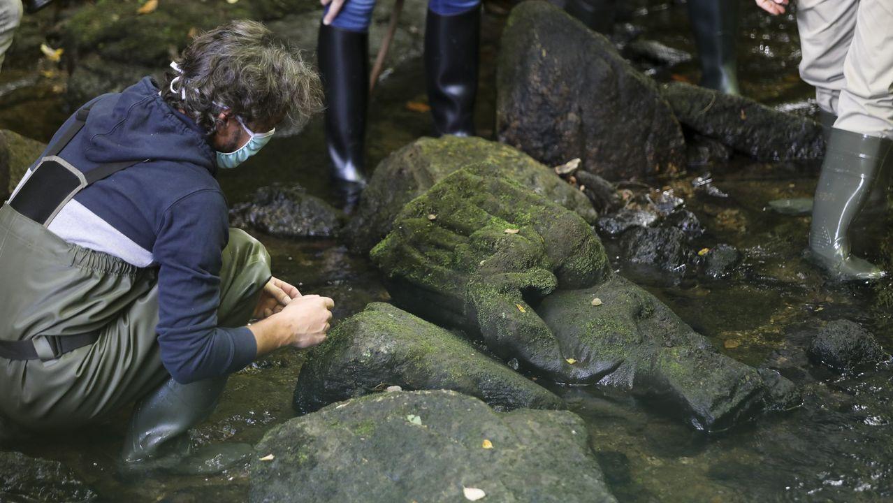 La Virgen gótica hallada en el río Sar por un pescador