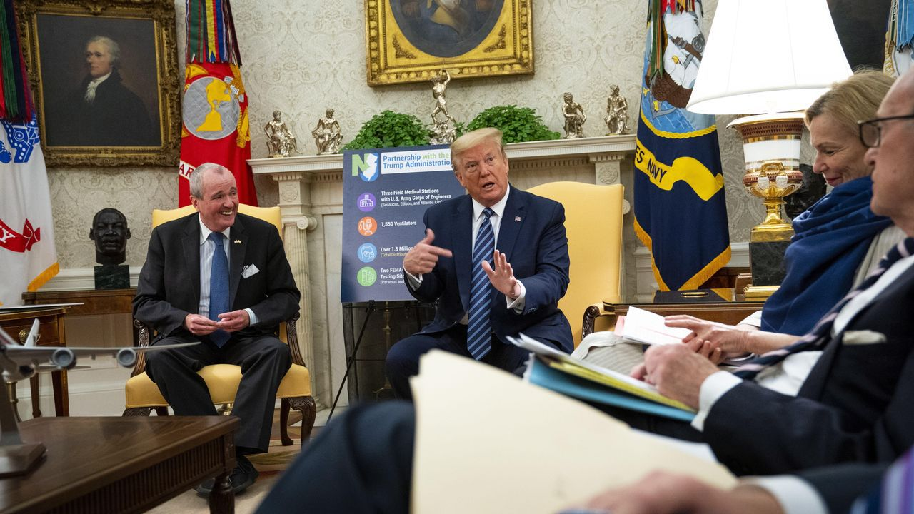 Trump, en una reunión en el despacho oval con el gobernador de Nueva Jersey
