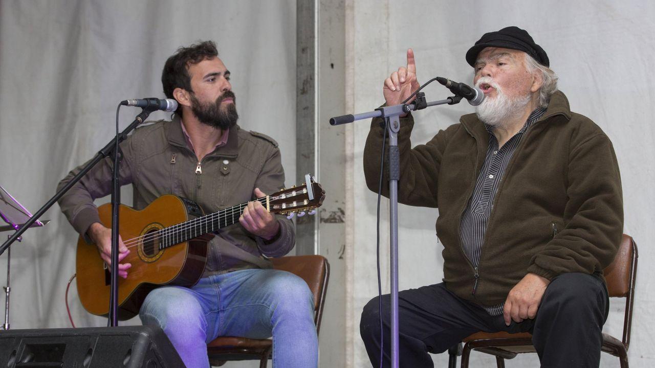 Salvador Amor, a la izquierda, con su padre Rafael