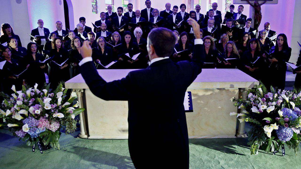 El coro de la Fundación Princesa, de Asturias a Colombia.Natalio Grueso