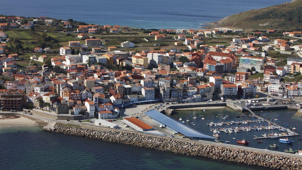 Vista aérea de Fisterra.