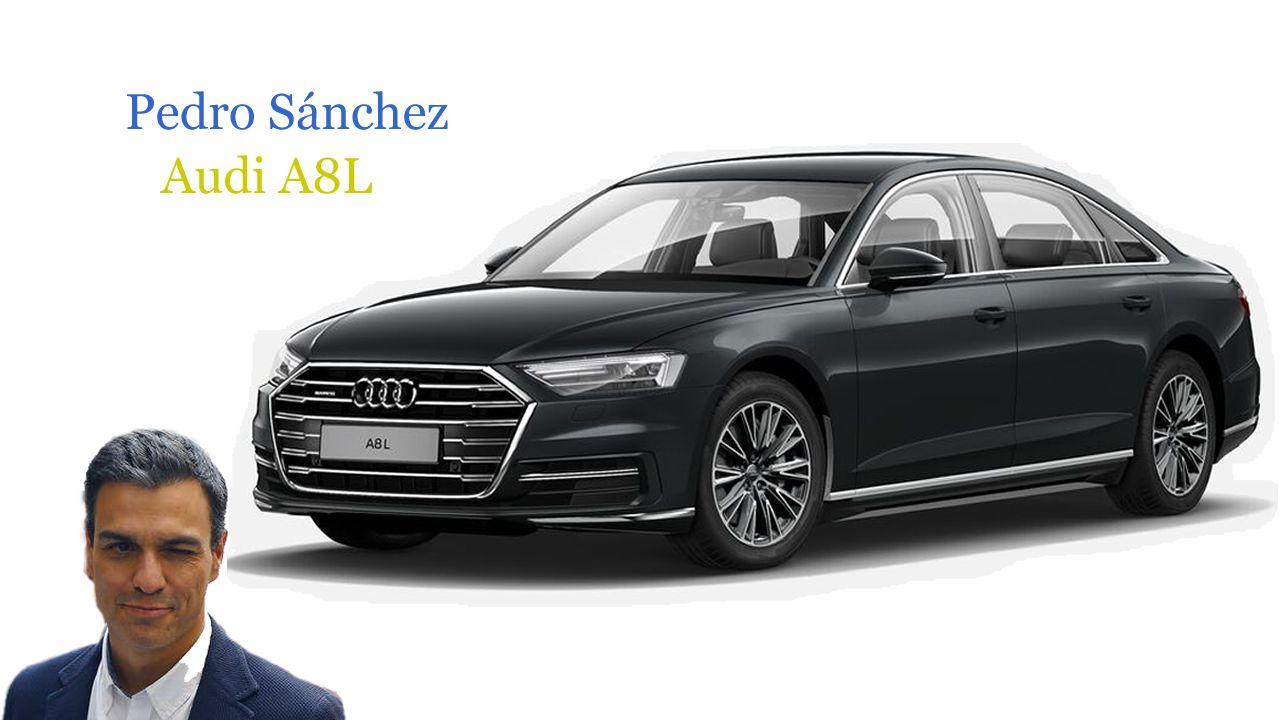 Los coches de los políticos.Presidente de Barreras