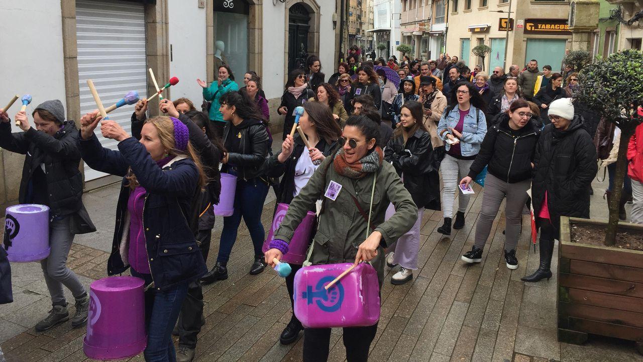 Las marchas del 8M llegan a Oviedo.Manifestación en Ribeira