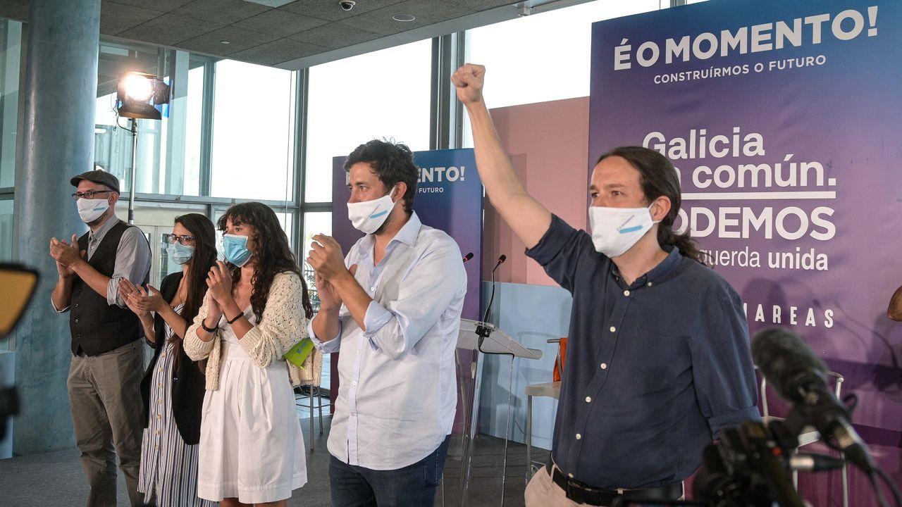 Ana Pontón celebra los resultados la noche del 12J