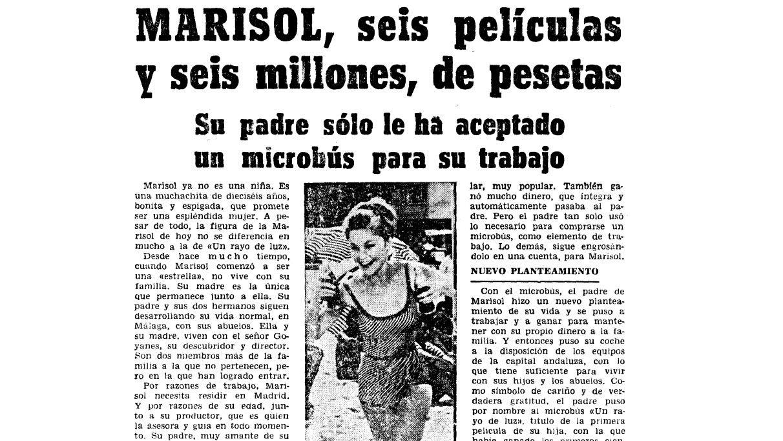Reportaje sobre Marisol publicado en La Voz de Galicia el 24 de febrero de 1965