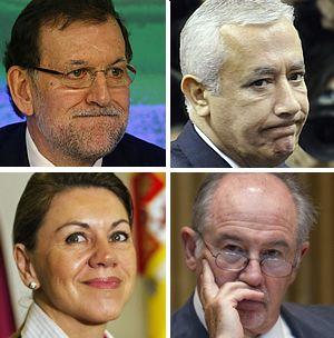 Los dirigentes del PP salpicados por Bárcenas.Ángel Acebes.