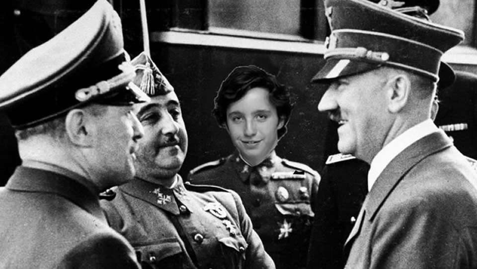 En Hendaya, con Franco y Hitler.