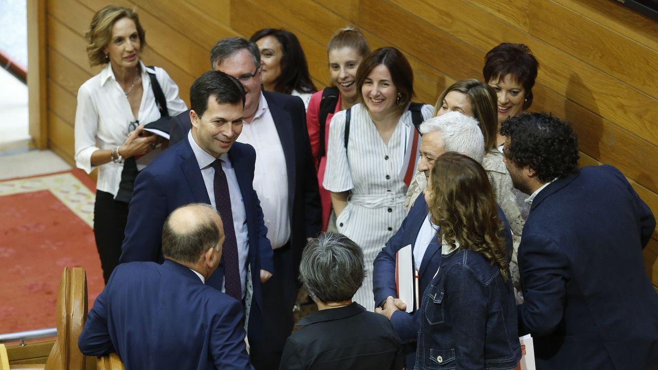 Gonzalo Caballero, a su llegada al Parlamento