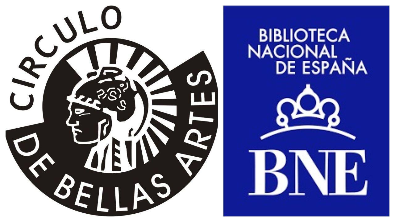 Logos del Círculo de Bellas Artes y la Biblioteca Nacional