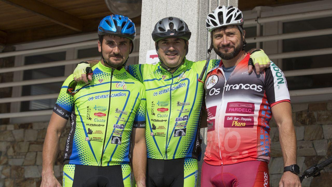 Representantes del club Os Reventacamiños y del Club Ciclista de Cee, pero asistieron también: Media Ducia, Carballo a un Paso, Club Ciclista Laracha, Downhill, Os Trancas de Quintáns y el Club Ciclista Dumbría