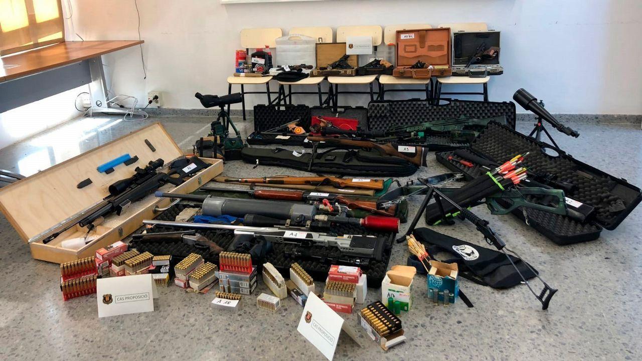 Los Mossos intervinieron a Murillo un total de 16 armas y abundante munición