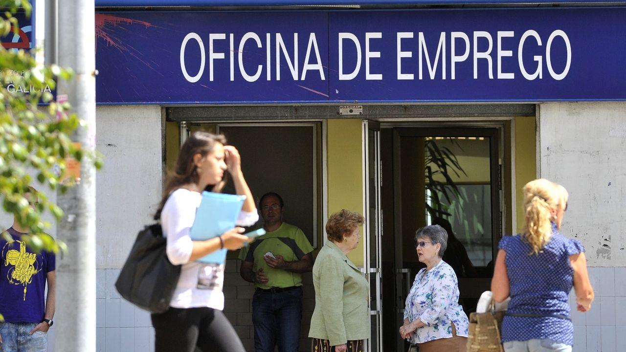 mili.Una oficina de empleo en una imagen de archivo