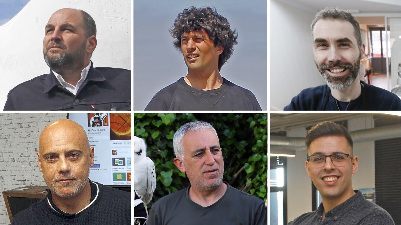 De izquierda a derecha, de arriba hacia abajo: Joaquín Martínez, Óscar Vales, Alberto Curiel, Jordi Grau, Evaristo González y Álex Rivas