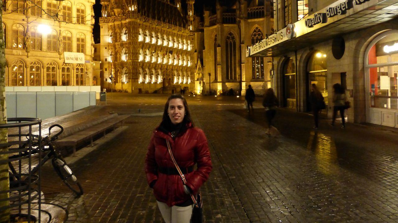 La avilesina Ana Furones, en Leuven