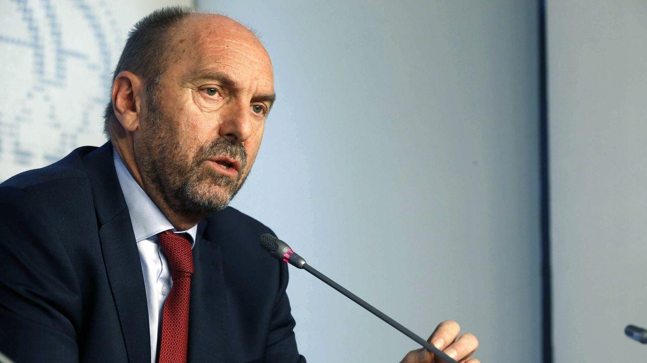 El vicepresidente del Gobierno asturiano, Juan Cofiño,