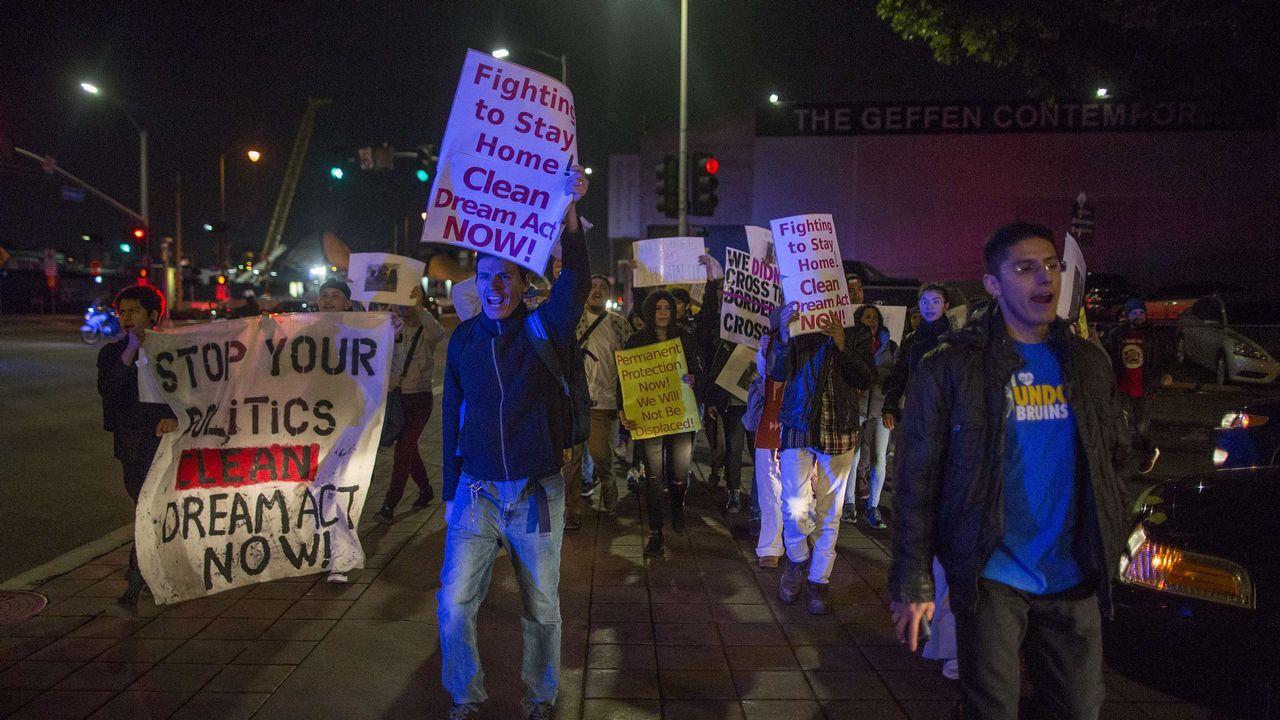 Marcha de protesta de un grupo de Dreamers