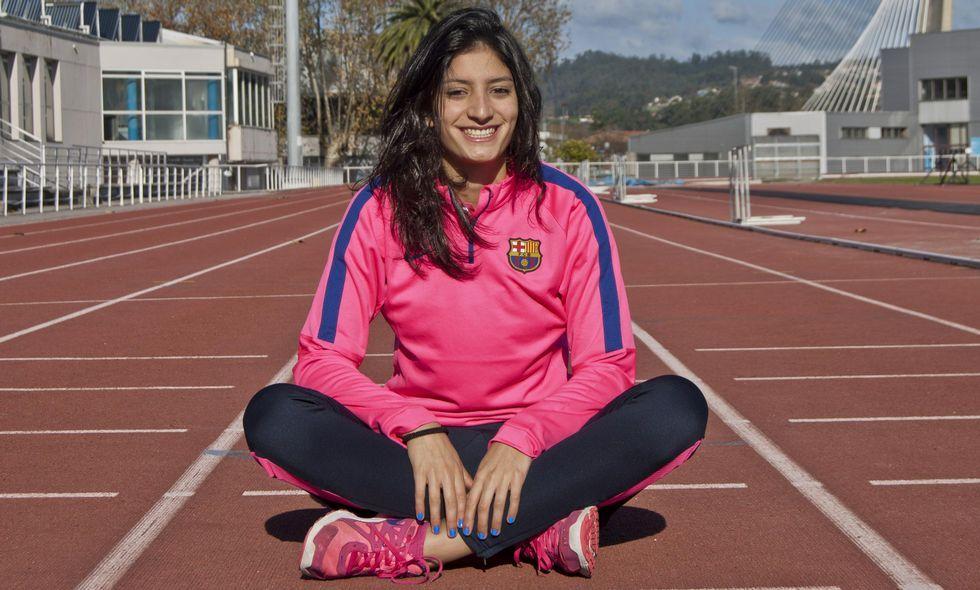 La joven atleta monfortina del FC Barcelona, satisfecha por estar de nuevo con el equipo nacional
