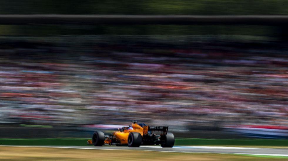 Fernando Alonso, en un momento de su carrera en el Gran Premio de Alemania