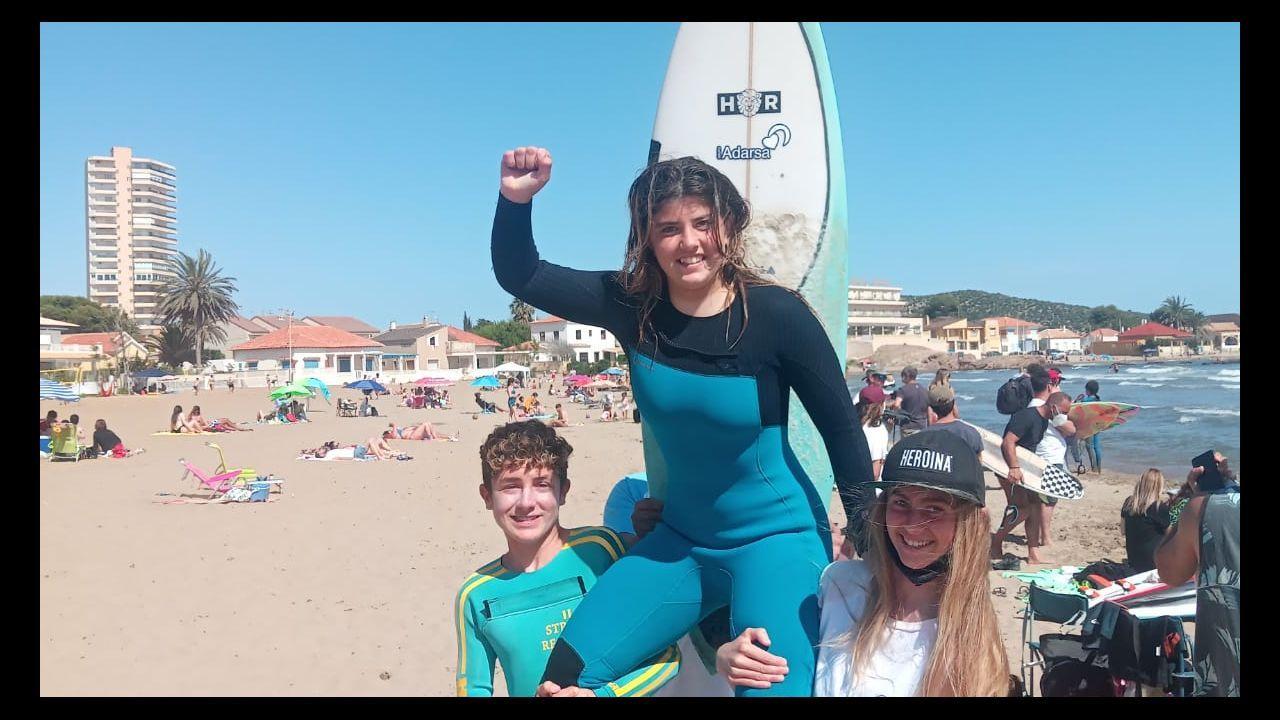 Playa de Aguete, en Marín