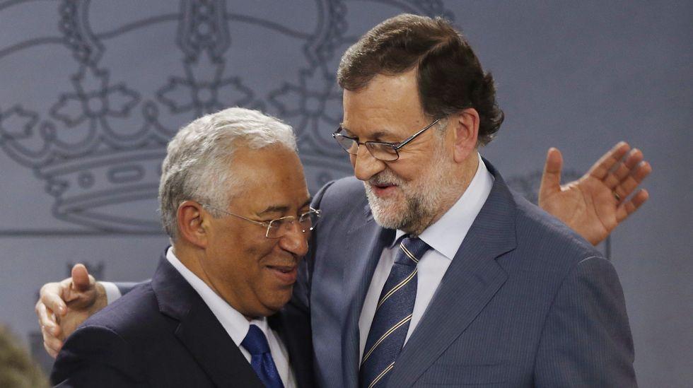 Pepe Solla y Rajoy, juntos en Bruselas.Martin Schulz, presidente del Parlamento Europeo