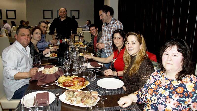 Los participantes en el cocidoday en O Barco