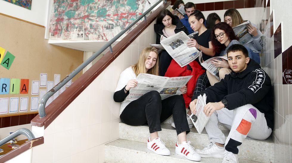 Alumnos del CPI Julia Malvar (Ribadumia) participan en el programa Periodismo en la Escuela
