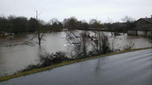 Inundaciones en Xinzo por la subida del Limia