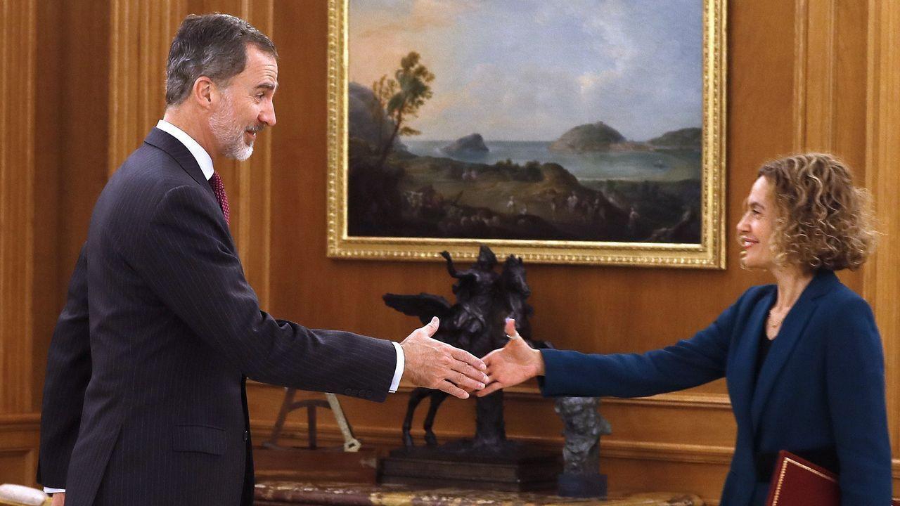 Felipe VI recibió este miércoles en la Zarzuela a Meritxell Batet
