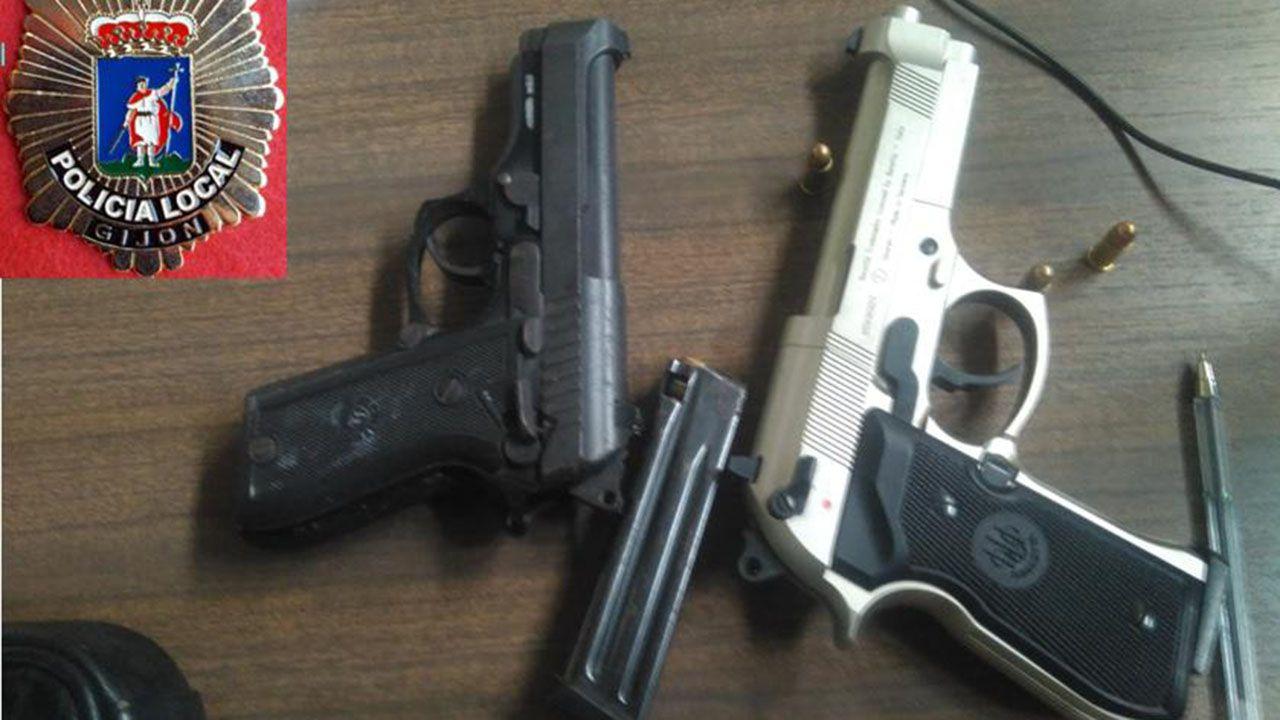 Material incautado por la Policía Local a los dos detenidos