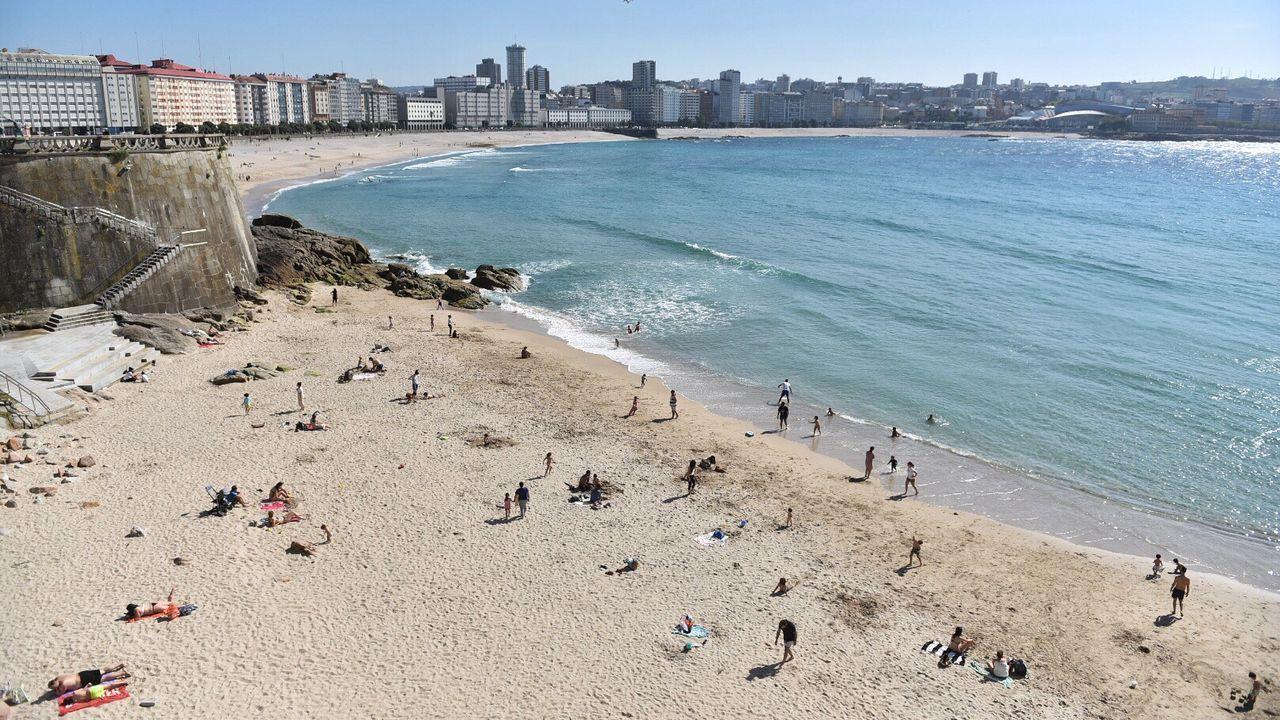 Imagen de la playa del Matadero (A Coruña)