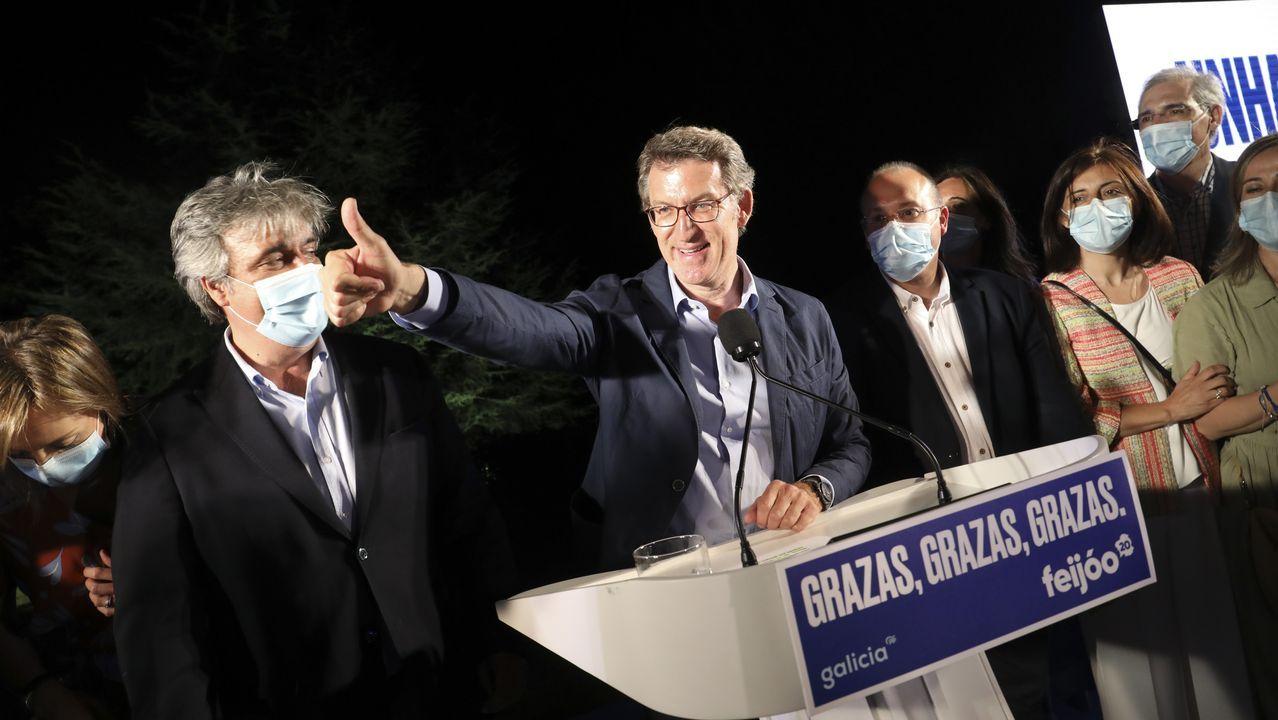 Comparecencia de Antón Gómez Reino.Antón Gómez-Reino, candidato de Galicia en Común a la presidencia de la Xunta