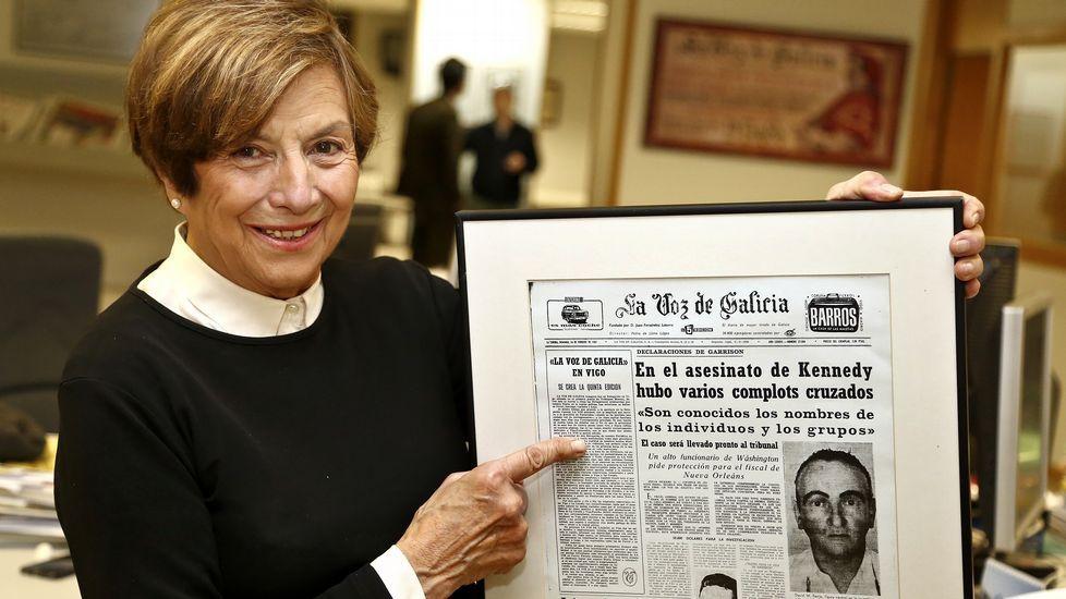 «Los vigueses valoraron disponer de información fiable con La Voz».Concentración de funcionarios de justicia en Oviedo