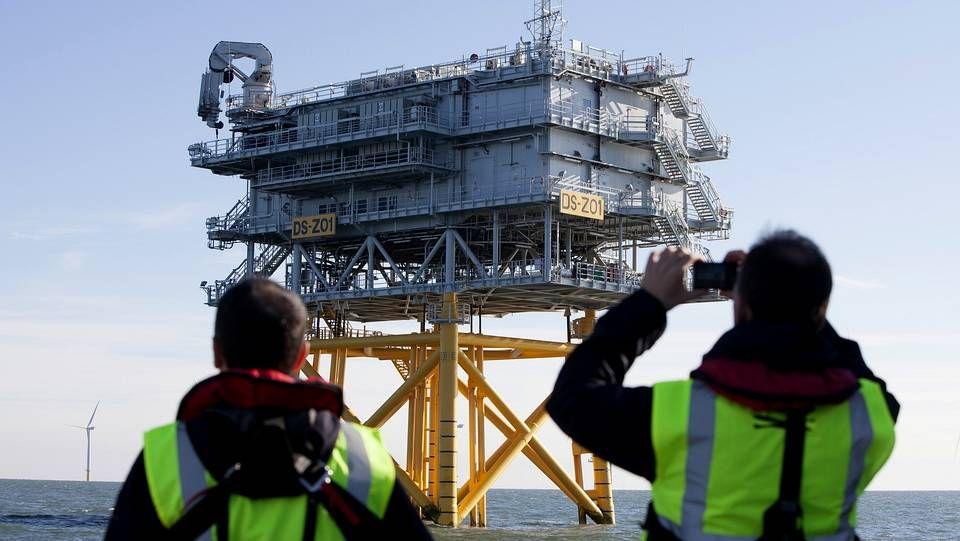 La grúa pórtico volverá a tener actividad con la construcción de los jackets para Iberdrola.
